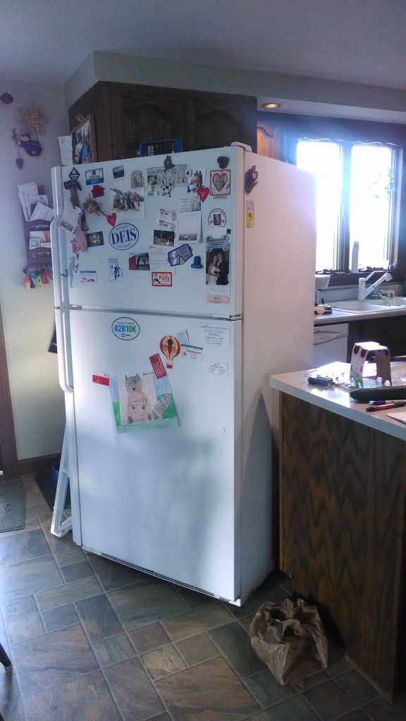 The broken fridge...