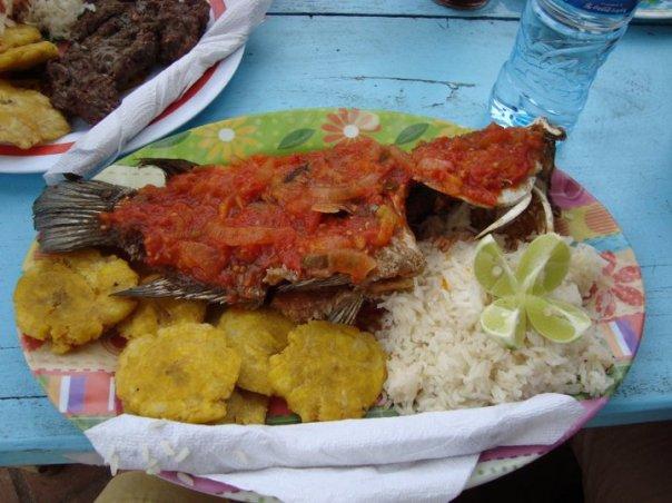 Fresh caught Lake Nicaragua seafood lunch