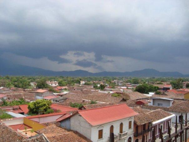 Rain over Volcan Mombacho
