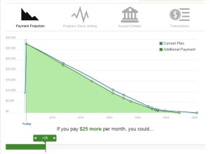 The Tuition.io debt avalanche chart