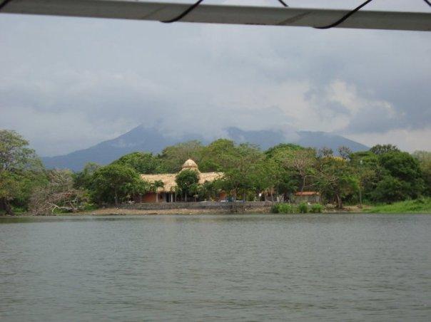 Volcano Mombacho overlooking Lake Nicaragua