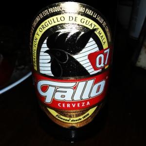 The Guatemala national beer... Gallo