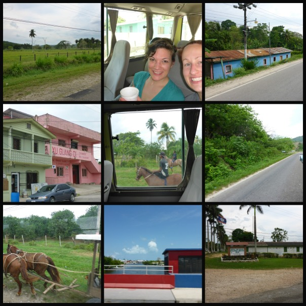 A collection of photos taken from the bus ride to Guatemala