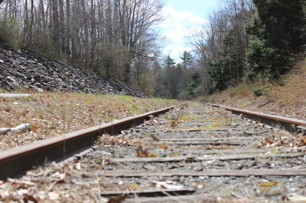Spring Railroad Tracks on Sunday morning