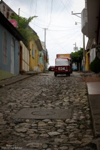 Cobblestone streets of Flores