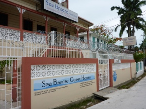 The Sea Beeze Guesthouse in Belize City - ready for anything!
