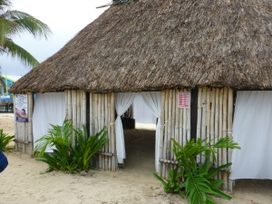 The massage hut on the beach