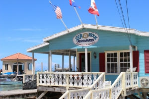 Searious Adventures office located right on the beach!